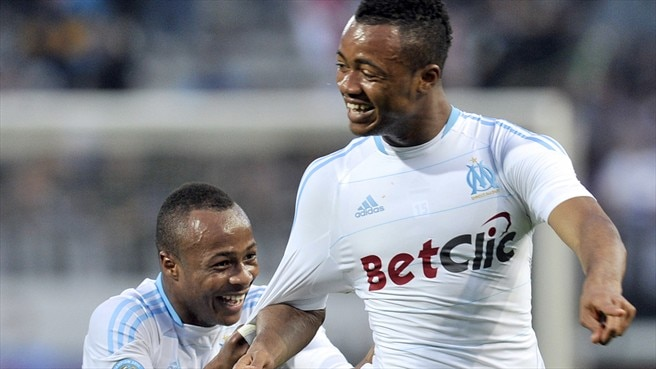 Ayew sends Marseille to Ligue 1 summit