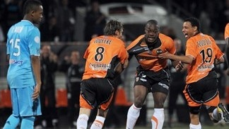 Lorient leave Marseille hopes hanging by a thread