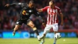 Charles N'Zogbia (Wigan Athletic FC) & Matthew Etherington (Stoke City FC)