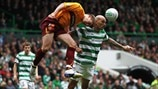 Daniel Majstorovic (Celtic FC) and Shaun Hutchinson (Motherwell FC)
