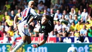 West Brom off the mark with Norwich win