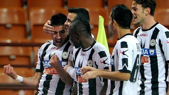 Udinese Calcio celebrate