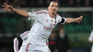 Ibrahimović treble gives Milan room at the top