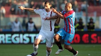 Milan pegged back by Catania