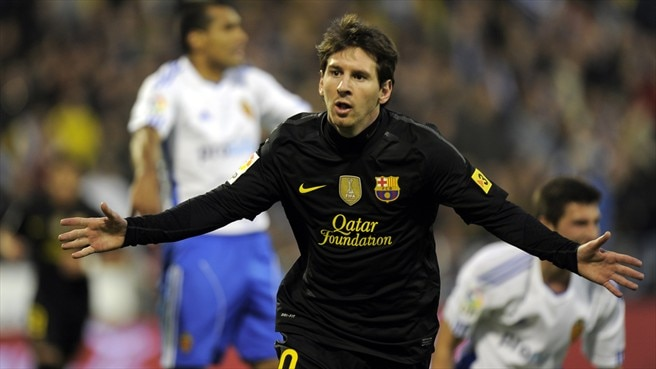Messi at the double as Barcelona sink Zaragoza
