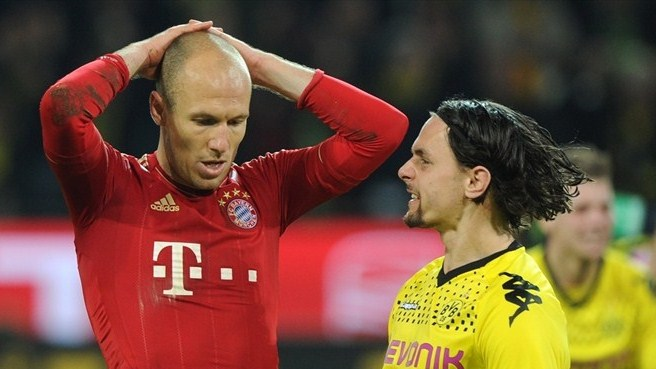 Robben rues misses as Dortmund celebrate