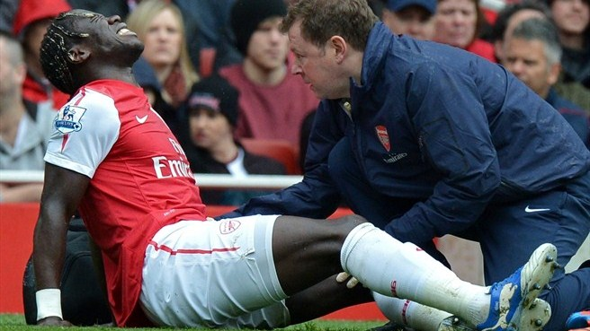 Luckless Sagna suffers another leg fracture
