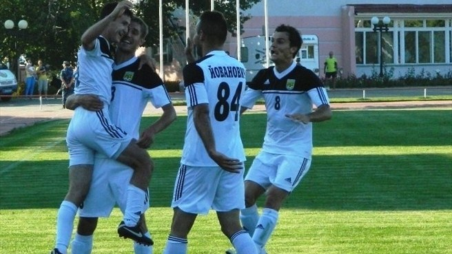 FC Tobol Kostanay players' celebrations