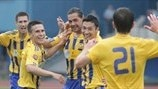 FK Ventspils players' celebrations