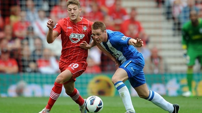 Adam Lallana (Southampton FC) & James McCarthy (Wigan Athletic FC)