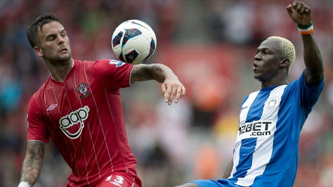 Danny Fox (Southampton FC ) & Arouna Koné (Wigan Athletic FC)