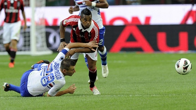 Thigh strain rules Robinho out of Milan's opener
