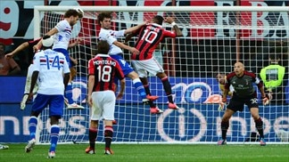 Milan stunned by Sampdoria, Inter stroll to win