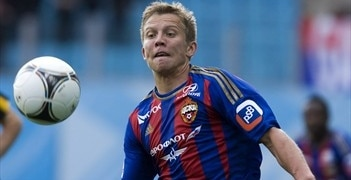 Aleksandrs Cauņa in the familiar colours of CSKA