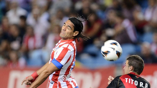 Radamel Falcao (Club Atlético de Madrid) & Tito (Rayo Vallecano de Madrid)