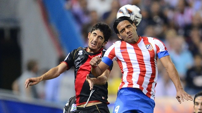 Falcao (Club Atlético de Madrid) & Jose Carlos  (Rayo Vallecano de Madrid)