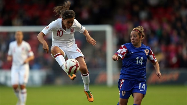 Fara Williams (England) & Andrea Martić (Croatia)