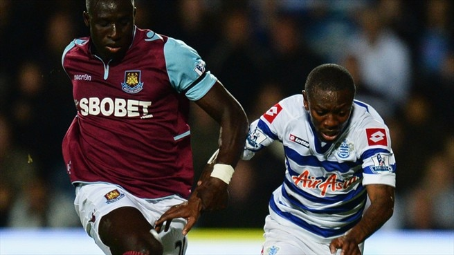 Mohamed Diame (West Ham United FC) & Shaun Wright-Phillips (Queens Park Rangers FC)