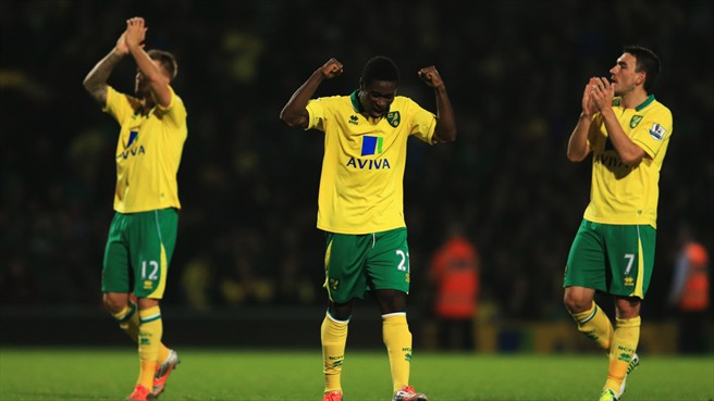 Anthony Pilkington, Alex Tettey & Robert Snodgrass (Norwich City FC)