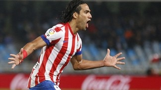 Falcao free-kick keeps Atlético on track