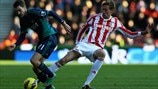 Adam Johnson (Sunderland AFC) & Peter Crouch (Stoke City FC)