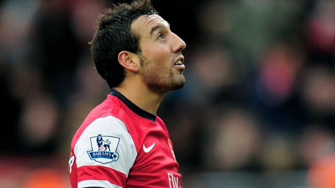 Cazorla out for Arsenal  with ankle complaint