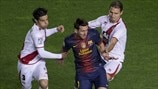 Lionel Messi (FC Barcelona) & Jose Manual Casado Bizcocho (Rayo Vallecano de Madrid)