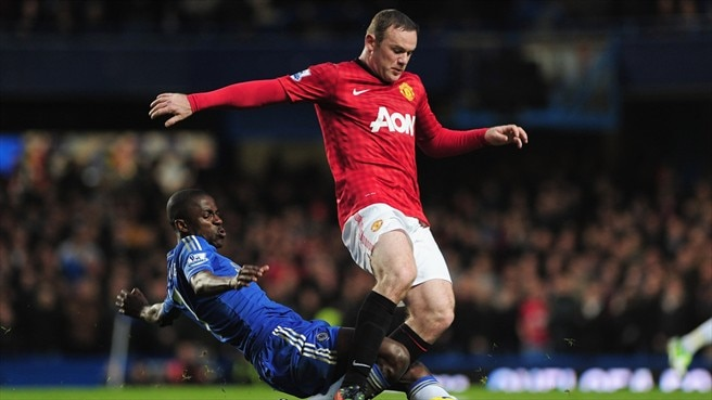 amires (Chelsea FC) & Wayne Rooney (Manchester United FC)