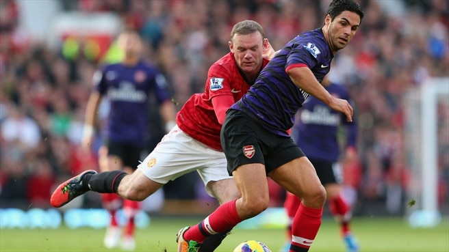 Wayne Rooney (Manchester United FC) & Mikel Arteta (Arsenal FC)