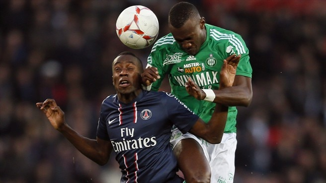 Blaise Matuidi (Paris Saint-Germain FC) & Joshua Guilavogui (AS Saint-Étienne)