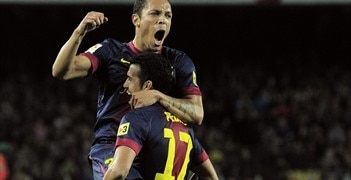 Adriano gave Barcelona the lead against Celta