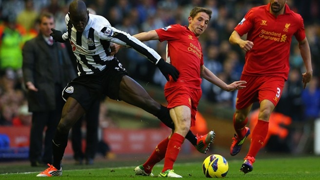 Demba Ba (Newcastle United FC) & Joe Allen (Liverpool FC)