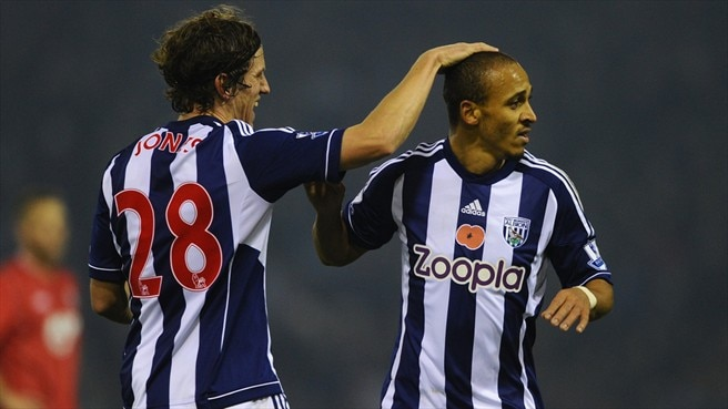 Billy Jones & Peter Odemwingie (West Bromwich Albion FC)