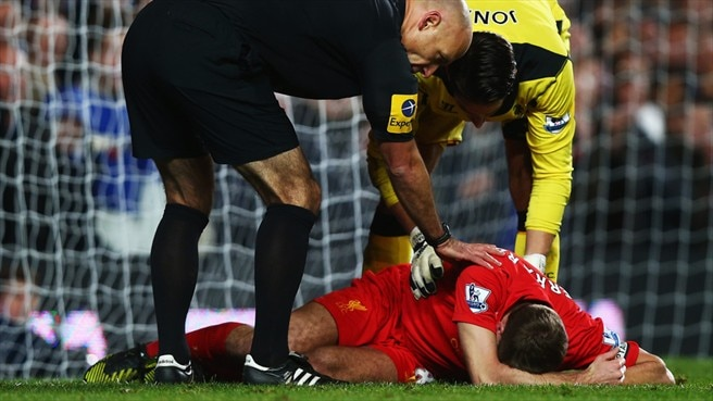 Steven Gerrard & Brad Jones (Liverpool FC)