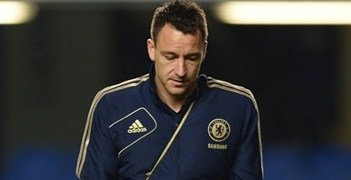John Terry leaves Stamford Bridge on Sunday following the Liverpool game
