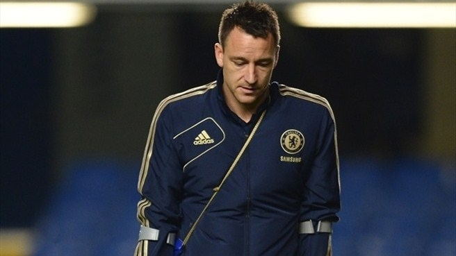 Chelsea lose injured Terry for three weeks