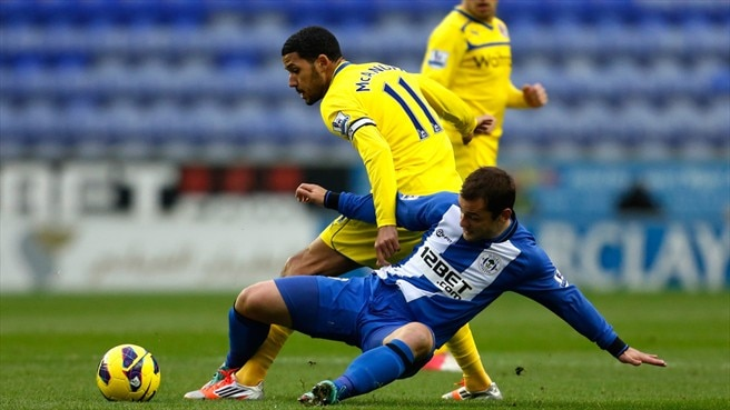 Jobi McAnuff (Reading FC) & Shaun Maloney (Wigan Athletic FC)