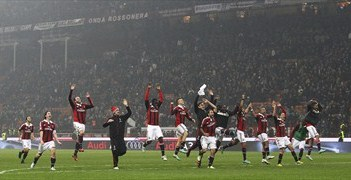 Milan celebrate after their victory against Juventus