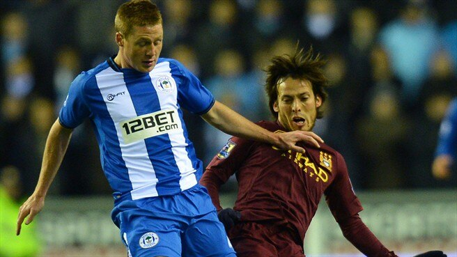 James McCarthy (Wigan Athletic FC) & David Silva (Manchester City FC)