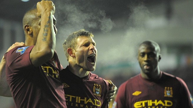 James Milner, Maicon & Yaya Touré (Manchester City FC)