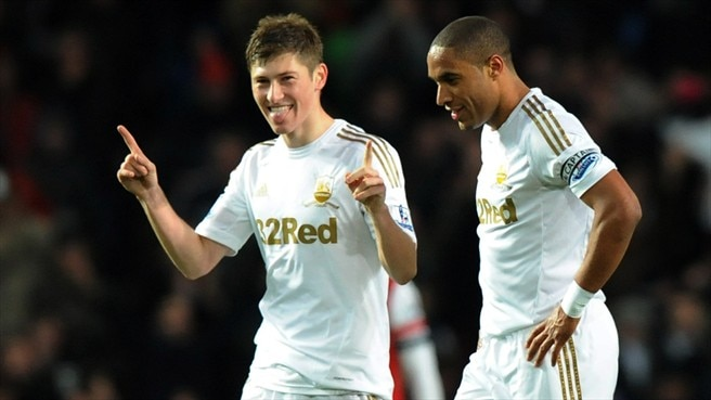 Ben Davies & Ashley Williams (Swansesa City AFC)