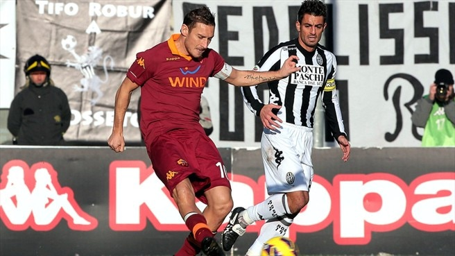 Francesco Totti (AS Roma) & Simone Vergassola (AC Siena)