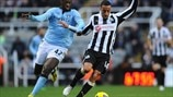 Yaya Touré (Manchester City FC) & James Perch (Newcastle United FC)