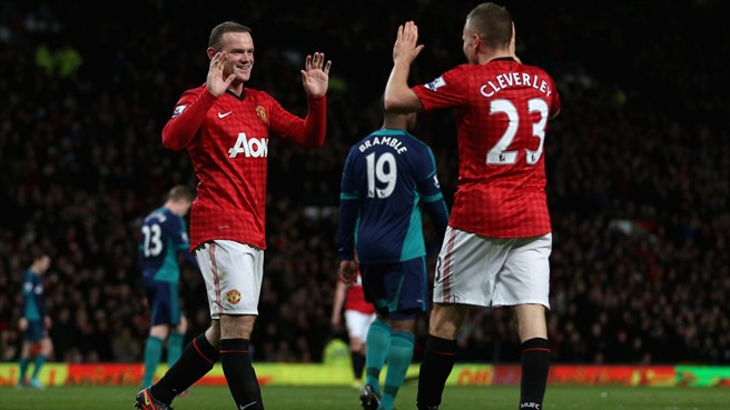 Wayne Rooney & Tom Cleverley (Manchester United FC)