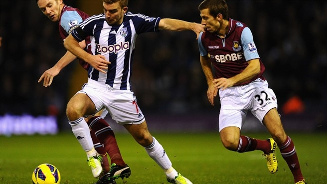 James Morrison (West Bromwich Albion FC) & Kevin Nolan (West Ham United FC)