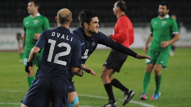 Xisco and Dvali Jaba (FC Dinamo Tbilisi)