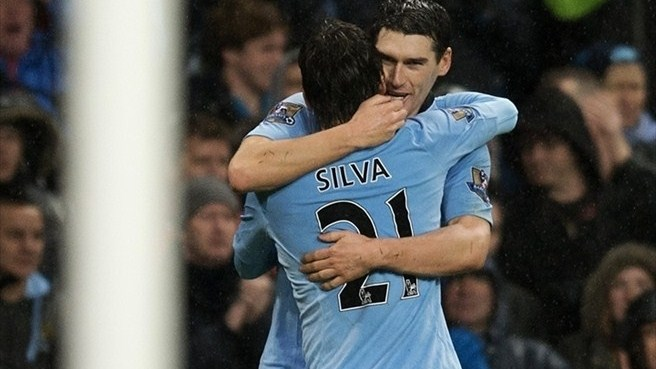 Gareth Barry & David Silva (Manchester City FC)