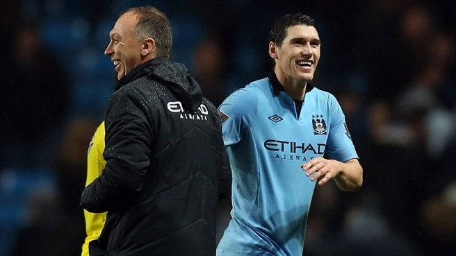 Gareth Barry & David Platt (Manchester City FC)