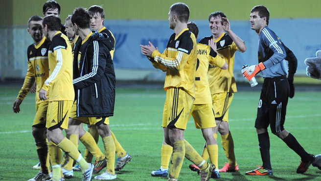 FC Shakhtyor Soligorsk celebrations