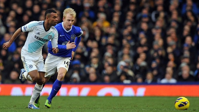 Ashley Cole (Chelsea FC) & Steven Naismith (Everton FC)